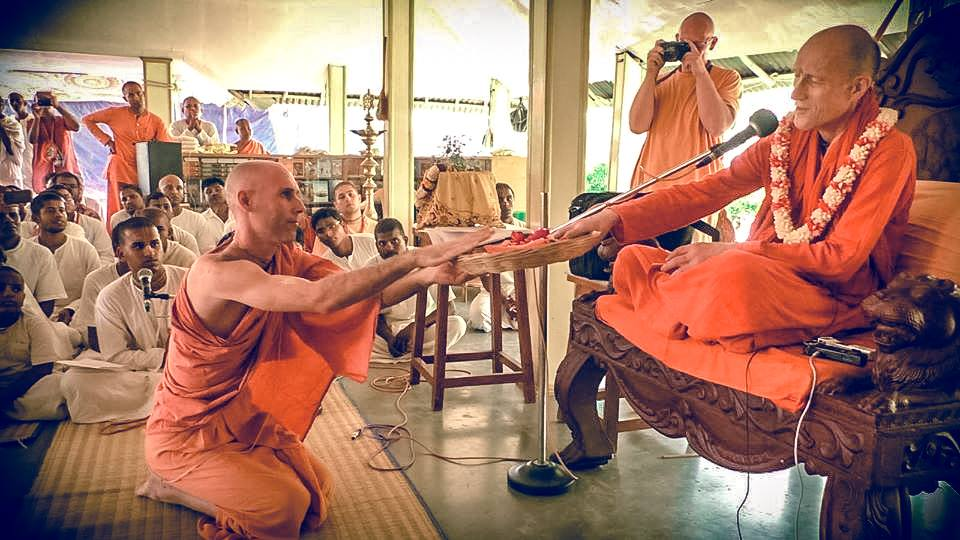 Mahat Tattva Prabhu accepts Sannyasa Initiation from HH Bhakti Vikasa Swami