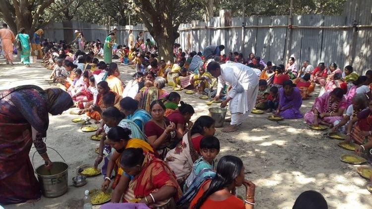 शांतिपुर उत्सव में ५०,००० भक्तों को प्रसाद वितरण की योजना