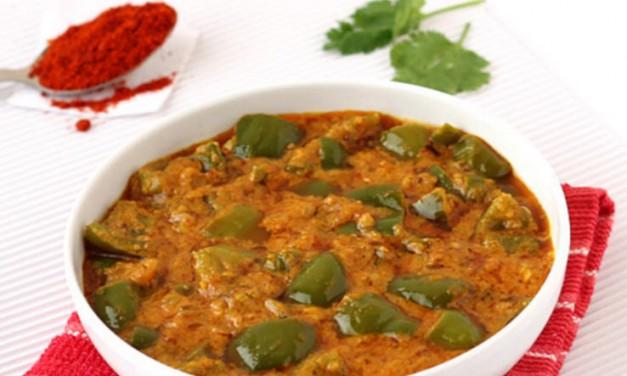 शिमला मिर्च और गोभी की सब्जी