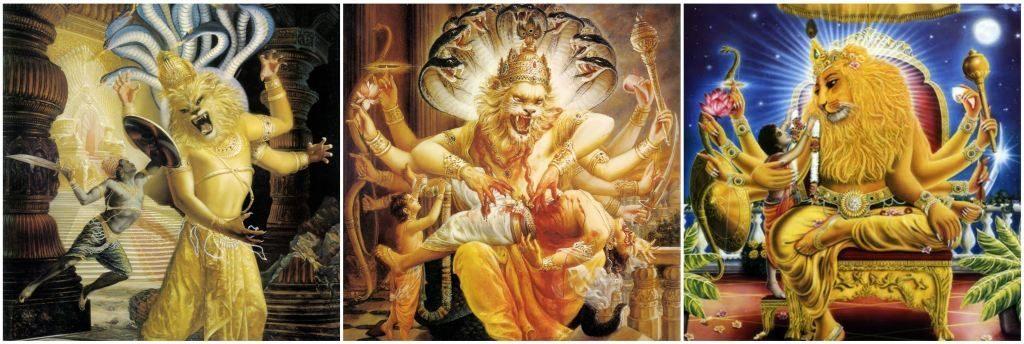 भगवान नृसिंह द्वारा हिरण्यकशिपु वध