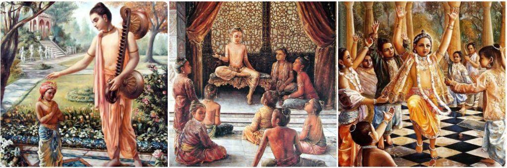 बालक प्रह्लाद अपने सहपाठियों को शिक्षा देते हुए