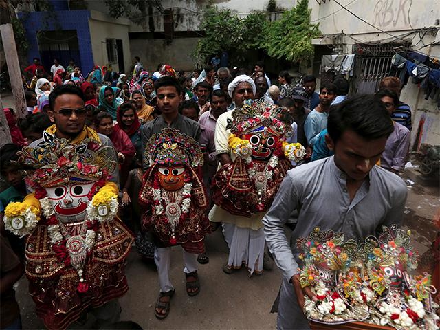करांची, पाकिस्तान में जगन्नाथ रथयात्रा