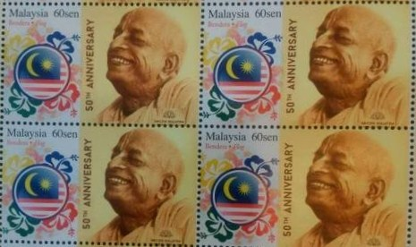 इस्कॉन स्थापना के ५०वीं वर्षगांठ पर मलेशिया में श्रील प्रभुपाद का सम्मान