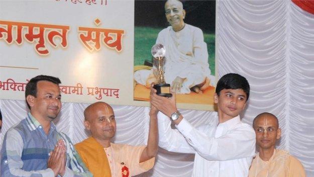 मुस्लिम छात्र – भगवद-गीता प्रतियोगिता विजेता